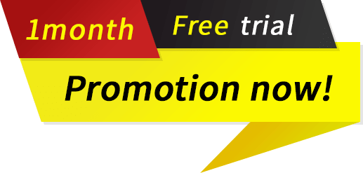 1 month free trial promotion now!
